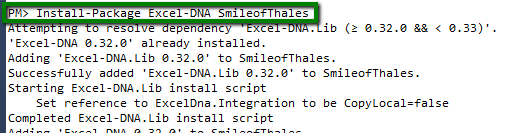 Excel-DNA Nugget Installation