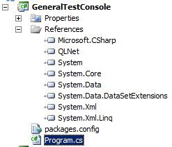 QLNet console project