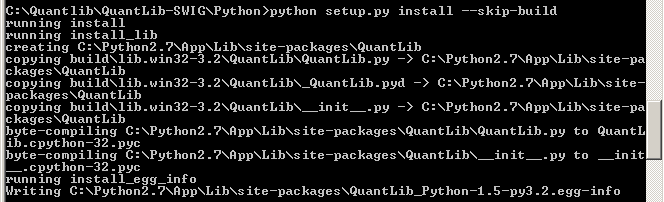 Build QuantLib for Python